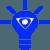 Εικονίδιο λάμπα με λογότυπο Icon για καινοτομία